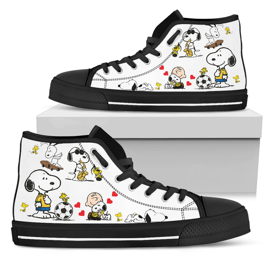 Snoopy Football High Tops