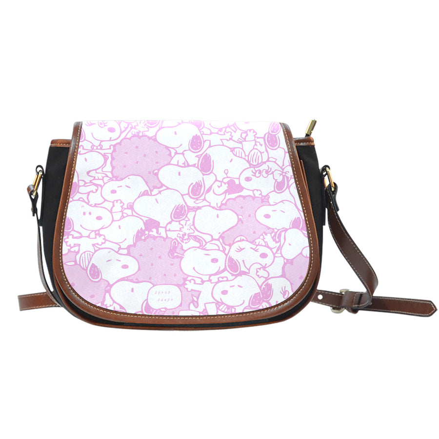 Snoopy Saddle Bag - Pink