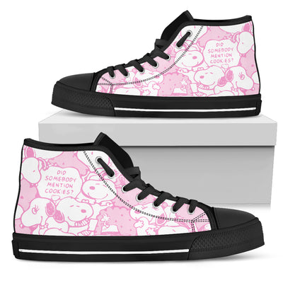 Pink Snoopy - High Tops