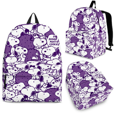Snoopy Backpack - Dark Purple