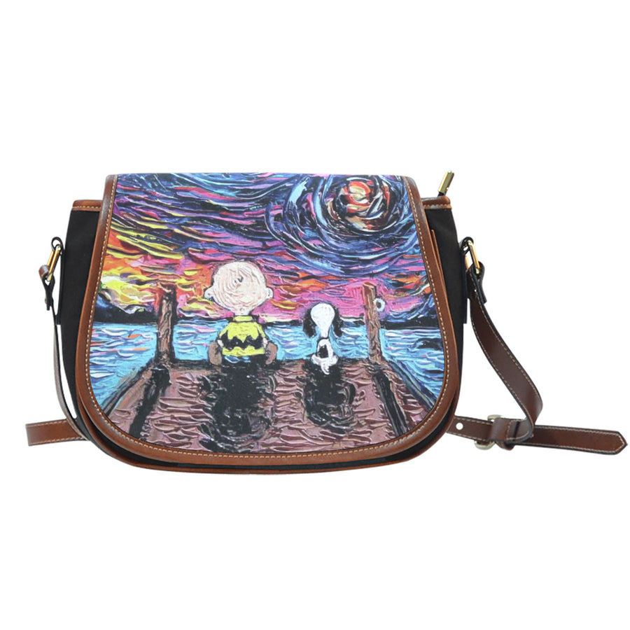 Starry Night Snoopy Saddle Bag
