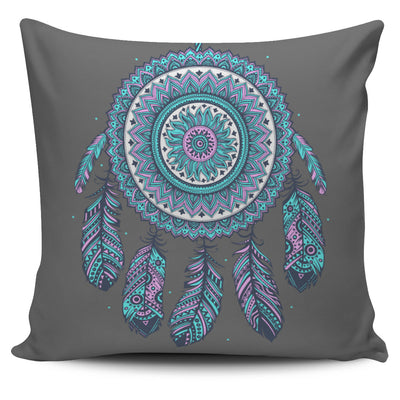 BLUE MANDALA PILLOW COVERS