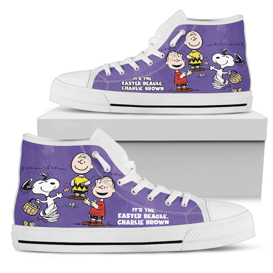 Easter Snoopy High Tops