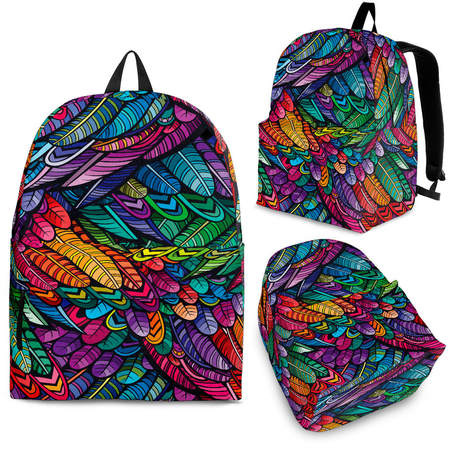 Boho Feathers - Backpack