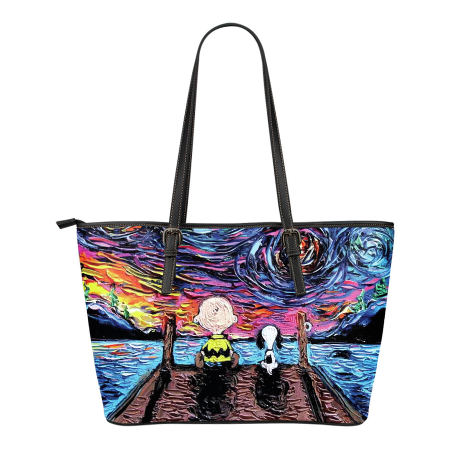 Starry Night Snoopy Tote Bag