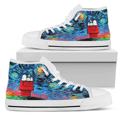 Starry Night Snoopy - High Tops