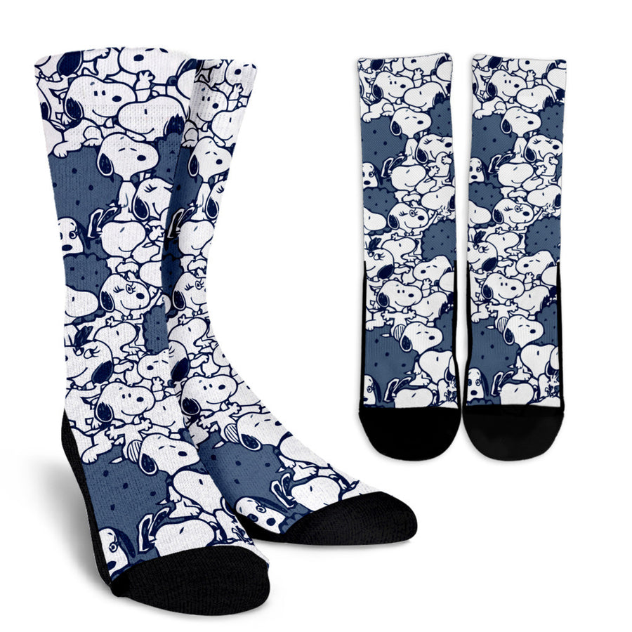Snoopy Socks Navy