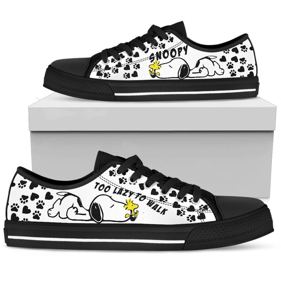 Snoopy Too Lazy To Walk - Low Tops