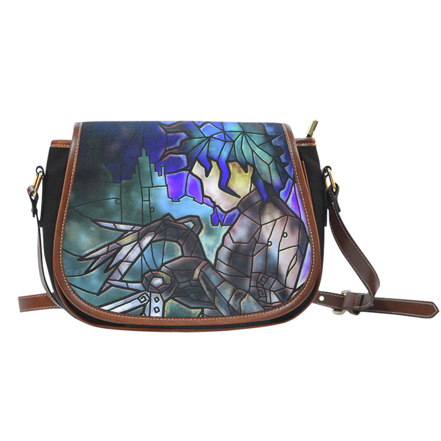 Edward Scissorhands Stained Glass Saddle Bag