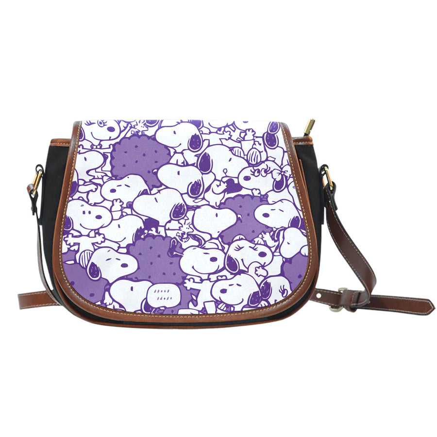 Snoopy Saddle Bag Dark Purple