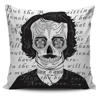 POE SUGAR SKULL PILLOW COVERS