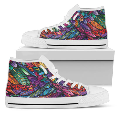 Boho Feathers - High Tops
