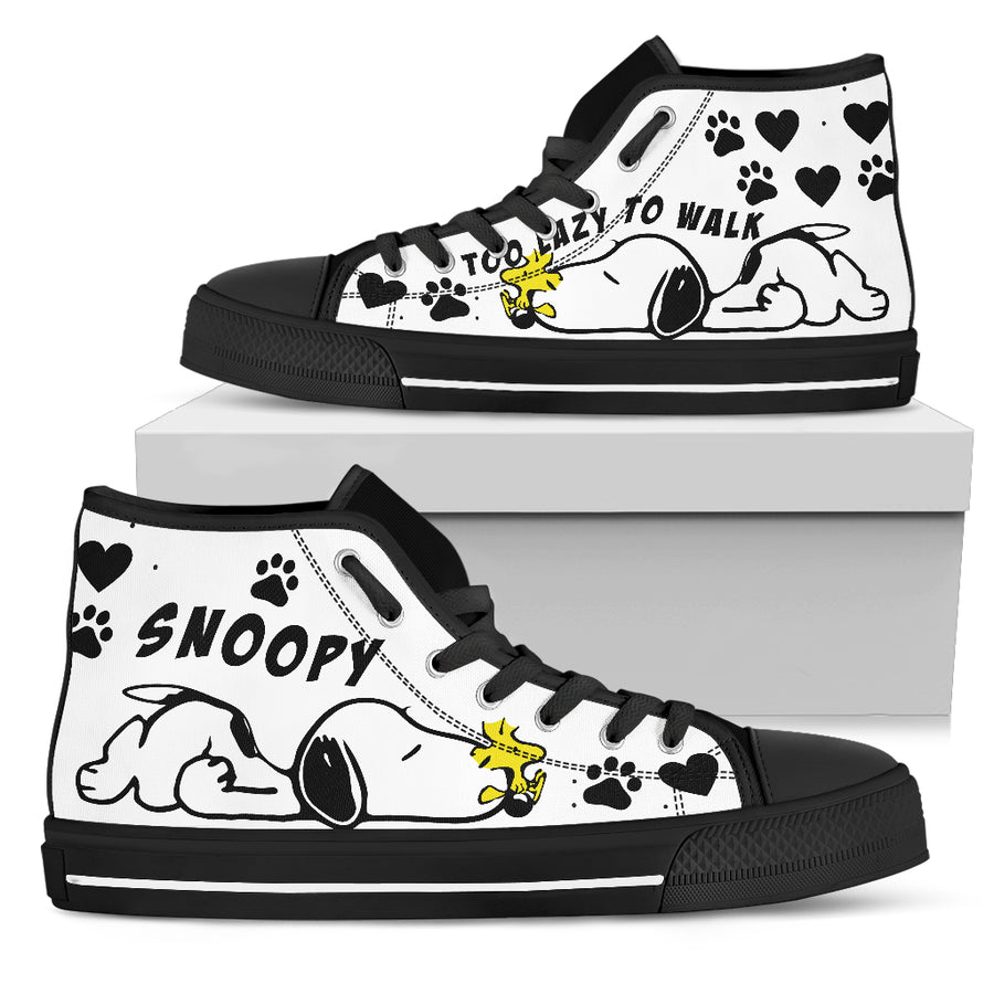 Snoopy - To Lazy to Walk - High Tops