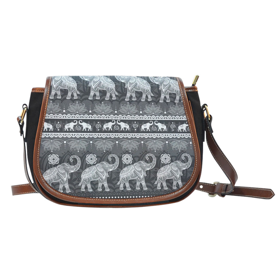 Elephant Mandala - Saddle Bag