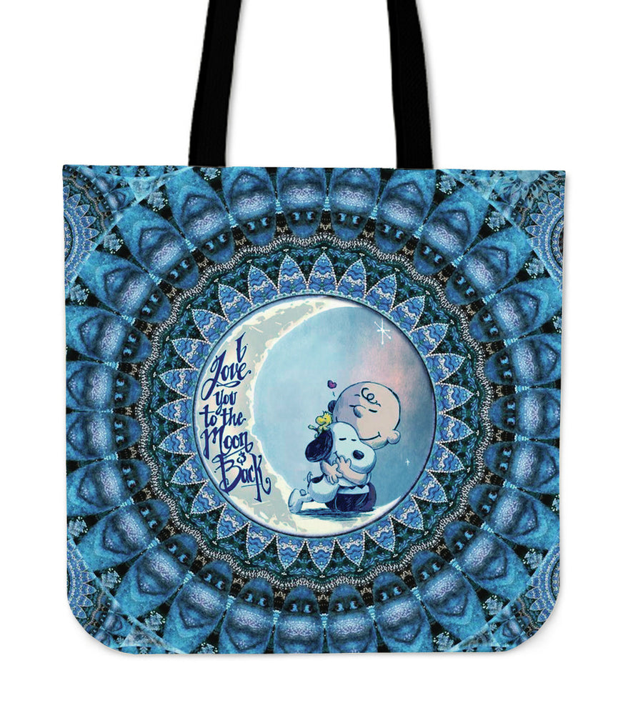 Mandala Love Snoopy To The Moon & Back Tote Bag