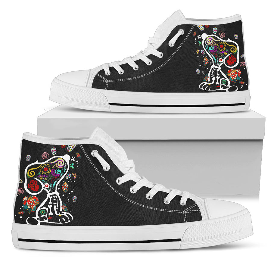 Colourful Snoopy High Tops