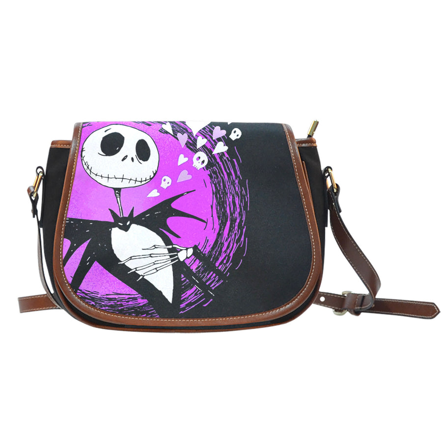 Jack Skellington Purple - Saddle Bag