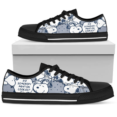 Navy Snoopy - Low Tops