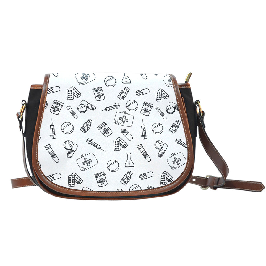 Nurse Saddle Bag White