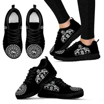 Elephant Mandala Black - Sneakers