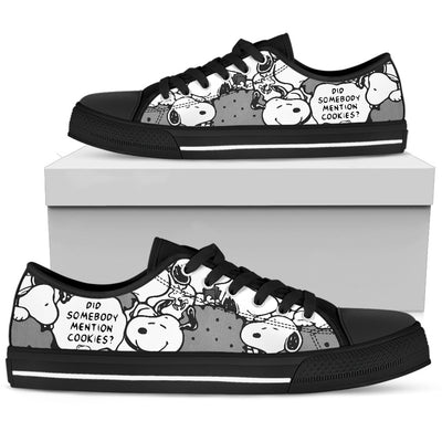 Black Snoopy - Low Tops