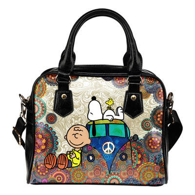 Snoopy on VW Bus Handbag