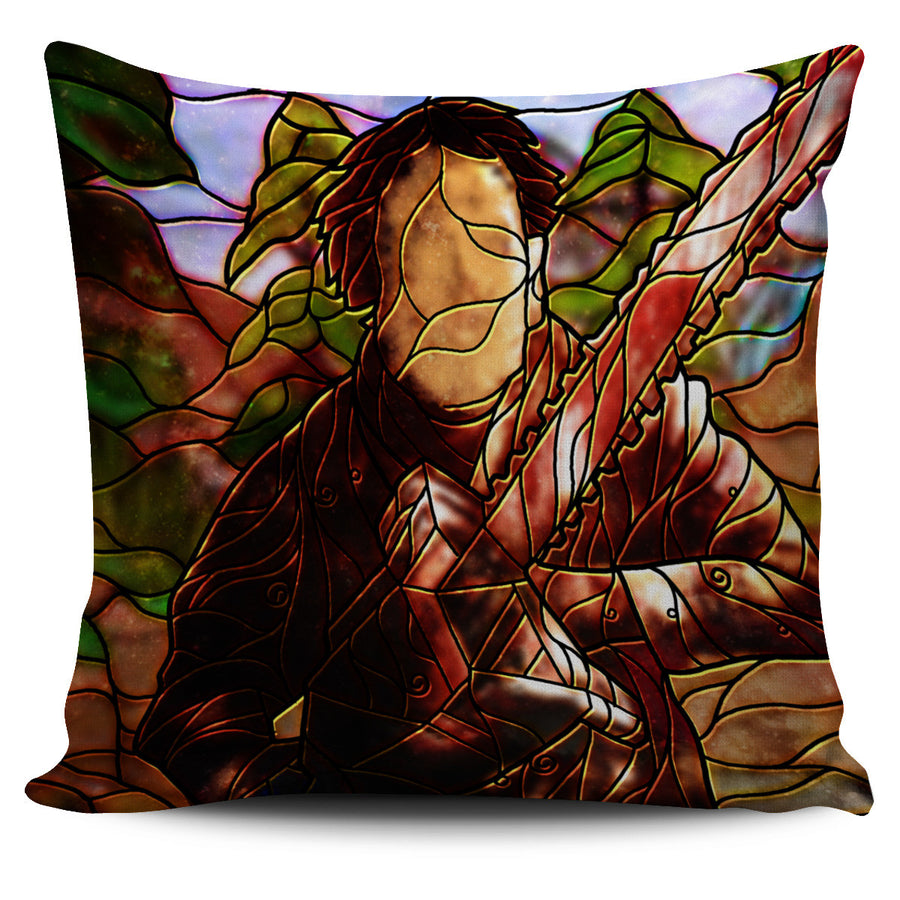 Horror Stained Glass Design Pillow Covers