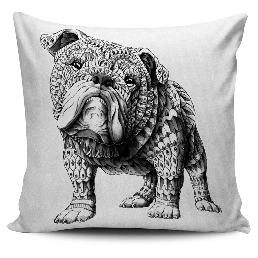 ENGLISH BULLDOG ORNATE ANIMAL PILLOW COVER
