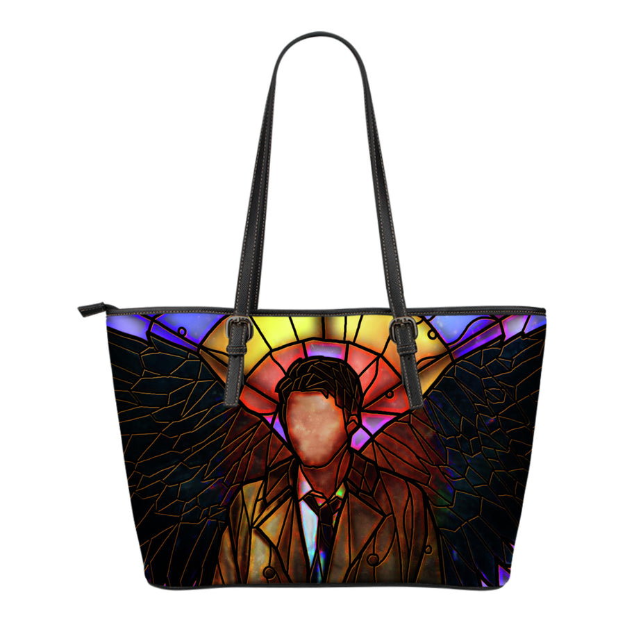Castiel Supernatural Stained Glass Tote Bag