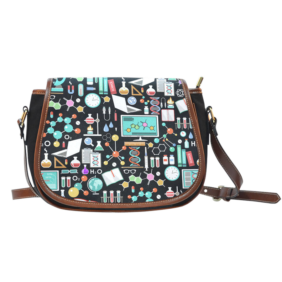 Science Pattern - Saddle Bag