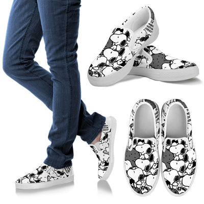 Snoopy Slip Ons Black