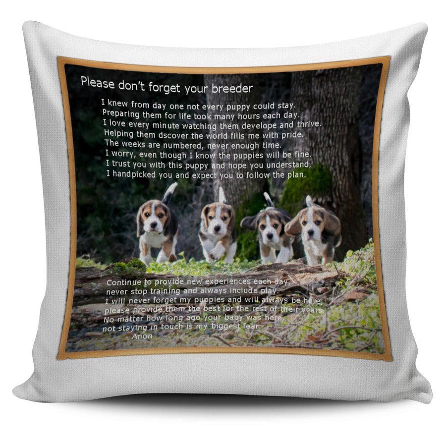 Beagle Breeder's Creed Pillow Cover