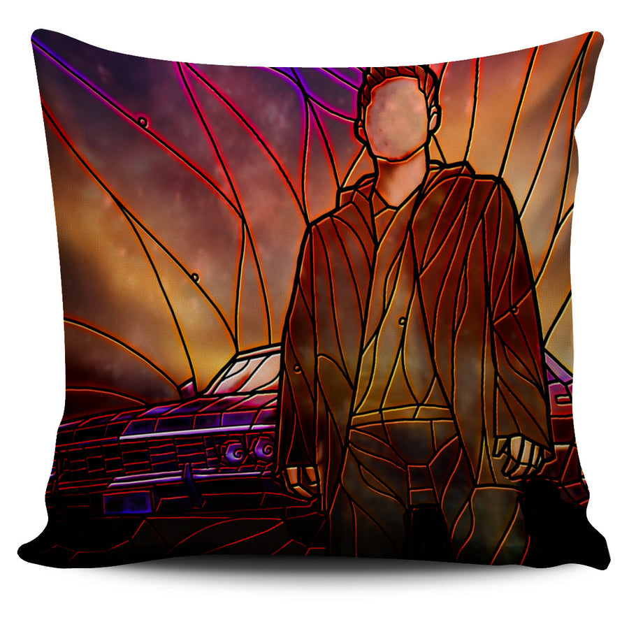 Supernatural Stained Glass Design Pillow Covers