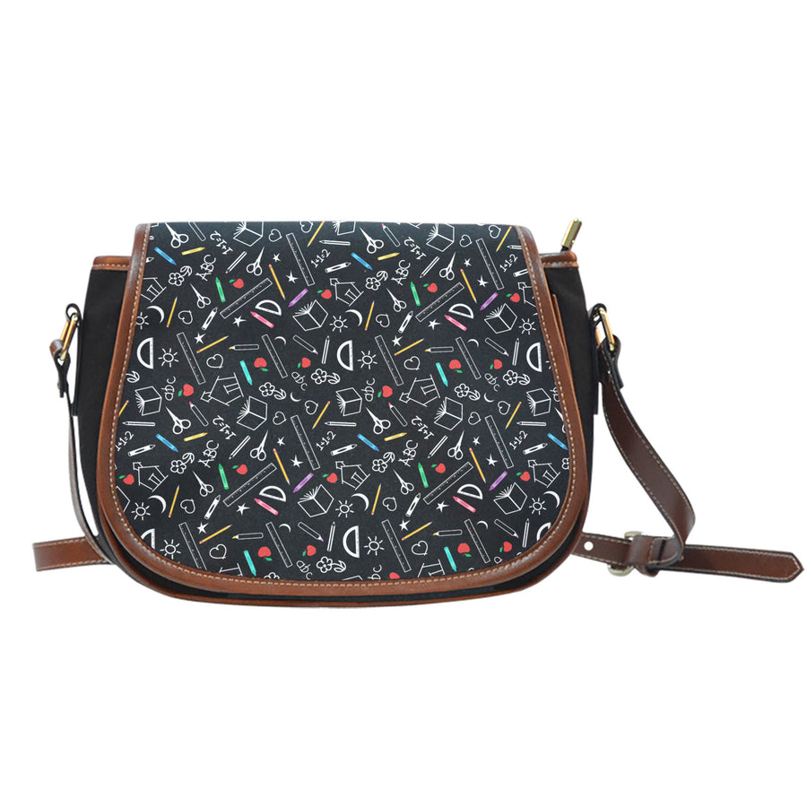 Teacher Pattern Saddle Bag