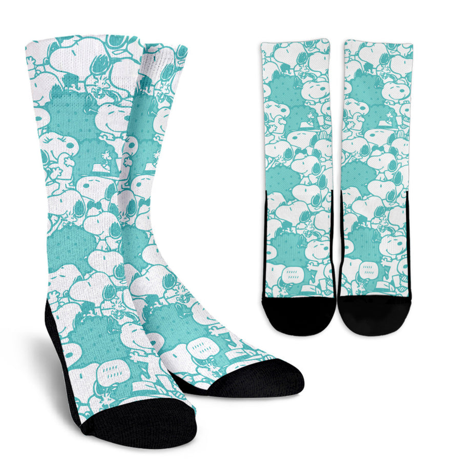 Snoopy Socks Blue