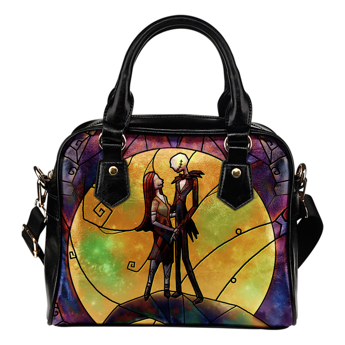 Nightmare Before Christmas Jack and Sally Stained Glass Handbag ...