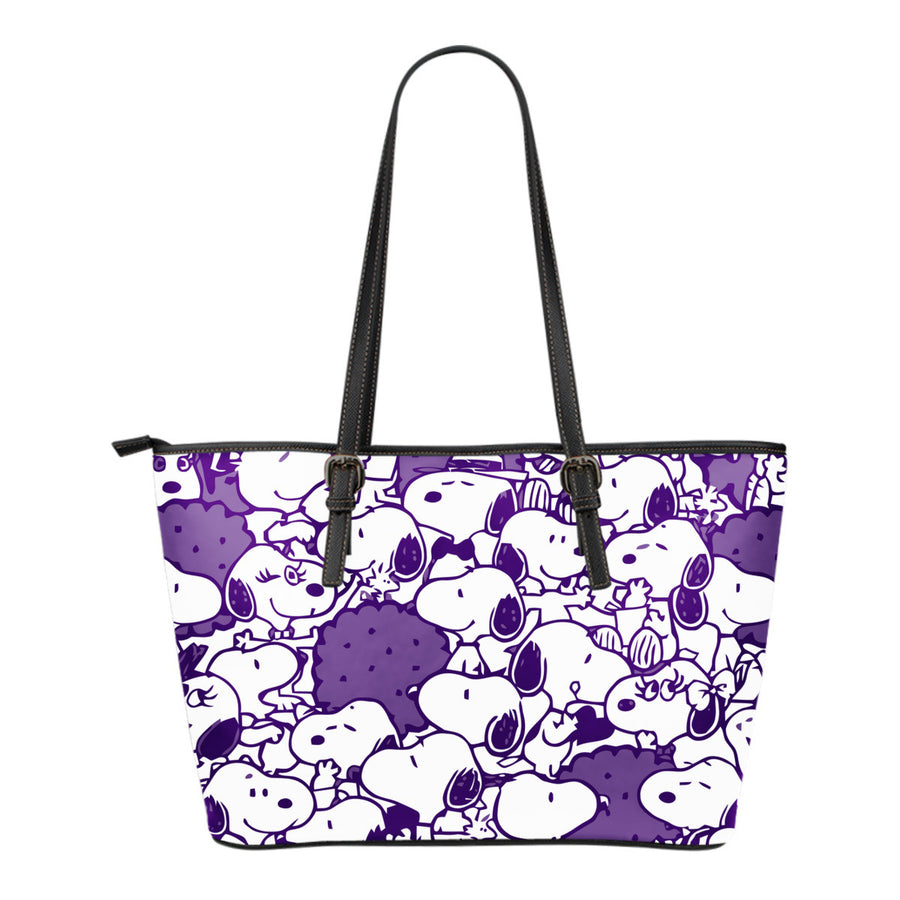 Snoopy Tote Bag - Dark Purple