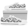 Black and White Skull Pattern - Low Tops