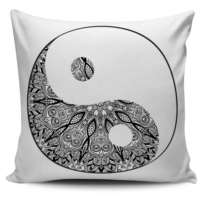 ORNATE YIN YANG SPIRITUAL PILLOW COVERS