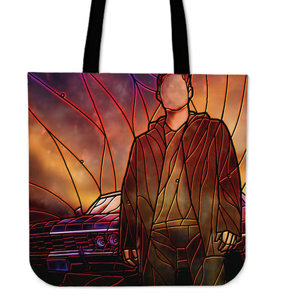 Dean Supernatural Stained Glass Tote Bag