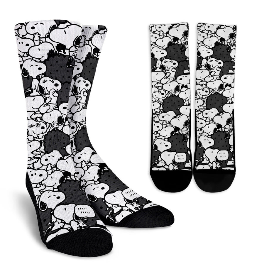 Snoopy Socks Black