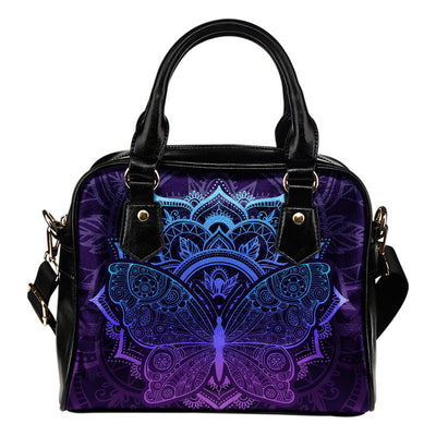 Purple Butterfly Handbag