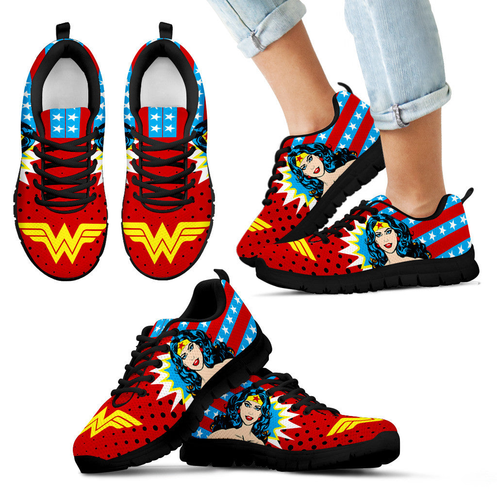 19fe20c0a226 Wonder Woman Sneakers - Luvlavie