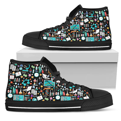 Science Pattern - High Tops