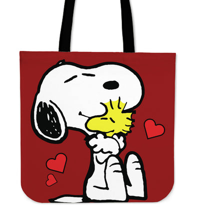 Snoopy And Woodstock Tote Bag