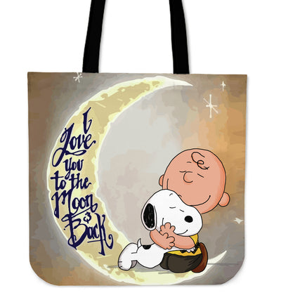 Love Snoopy To The Moon & Back Tote Bag