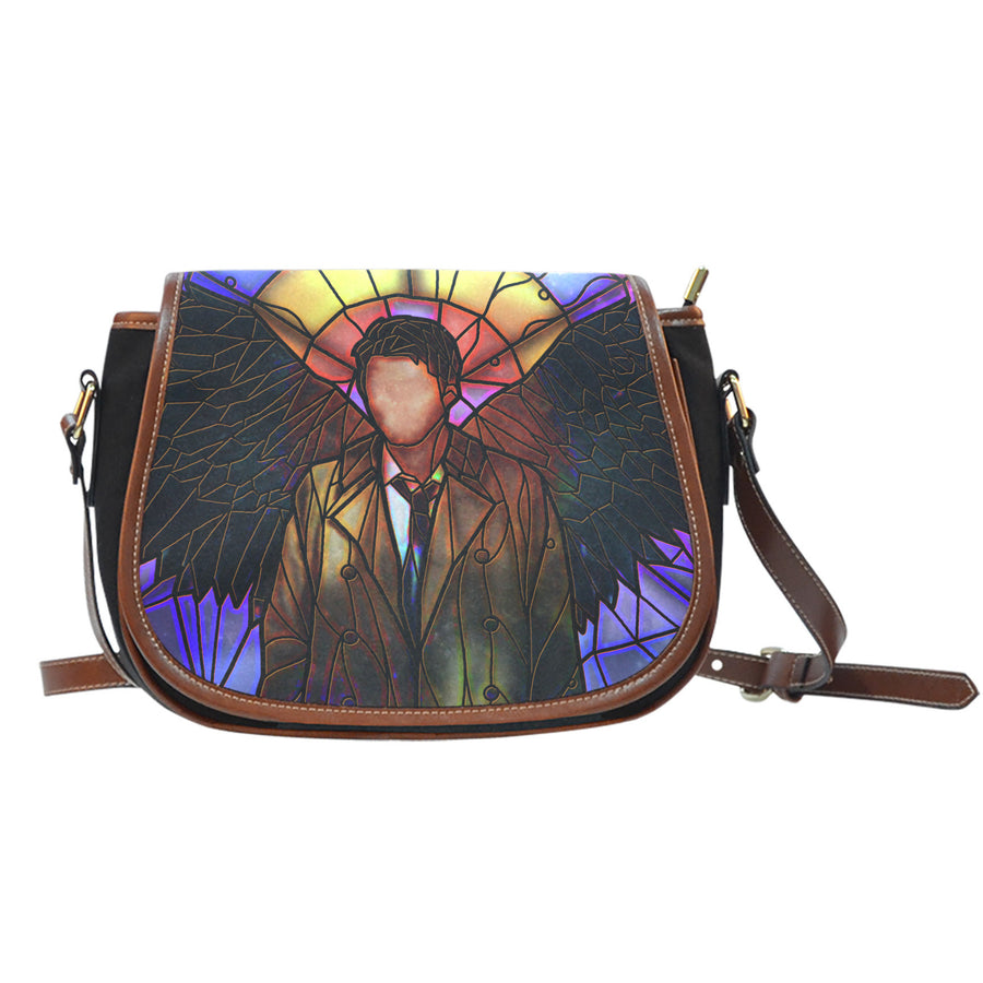 Castiel Supernatural Stained Glass Saddle Bag