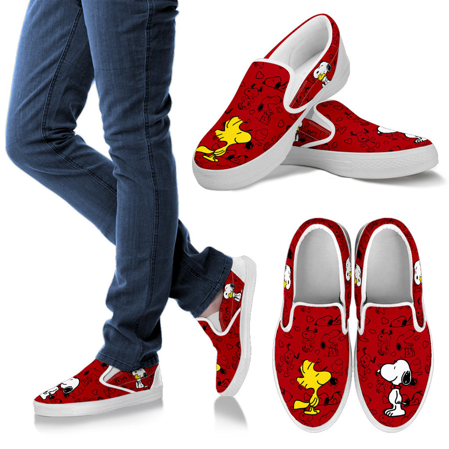 Snoopy and Woodstock - Slip Ons