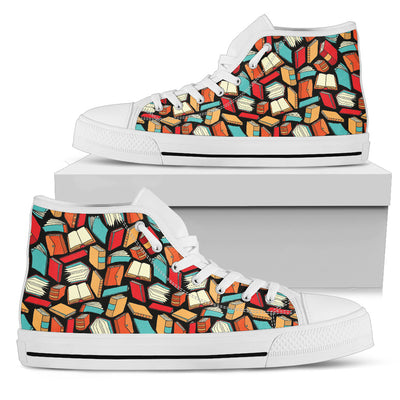 Book Lovers Pattern - High Tops