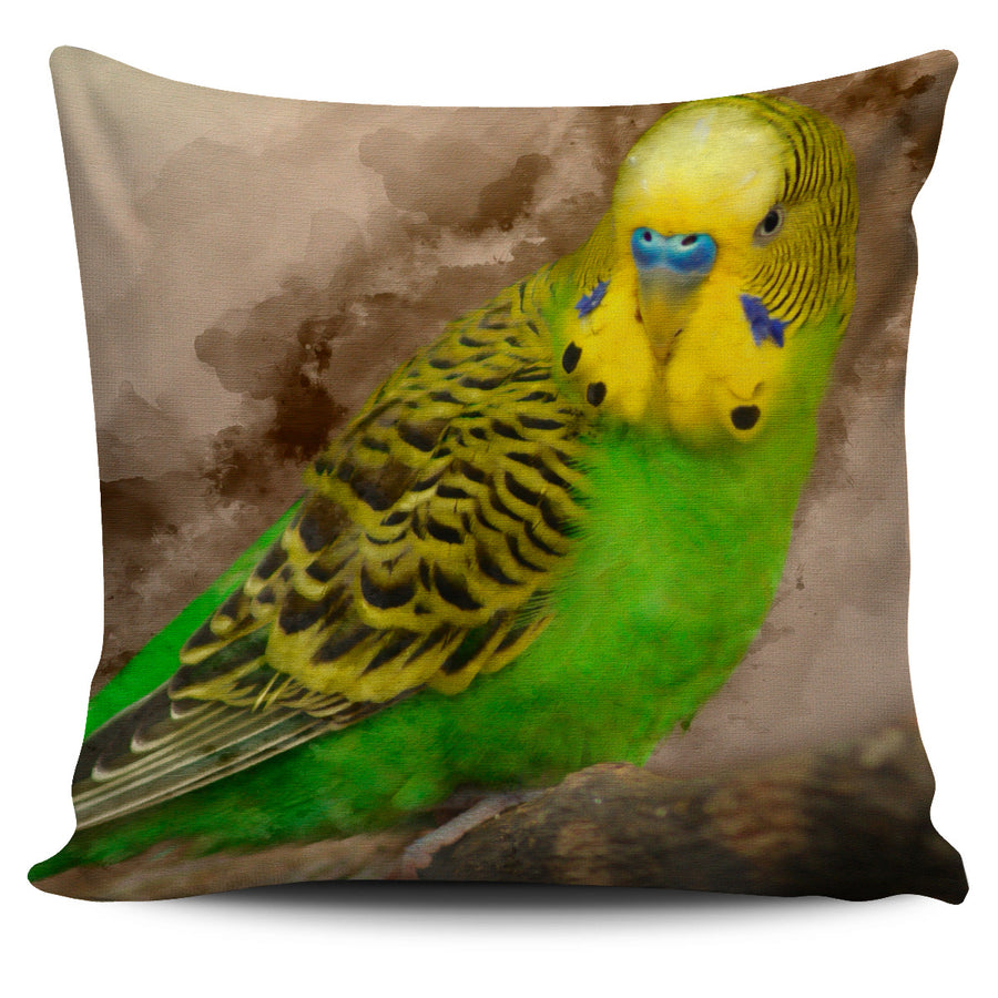 Green Parakeet Pillow Cover